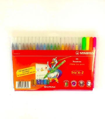 STABILO SWING COOL HIGHLIGHTER PENS MARKERS in PLASTIC WALLET OF 8 (275/8-3)
